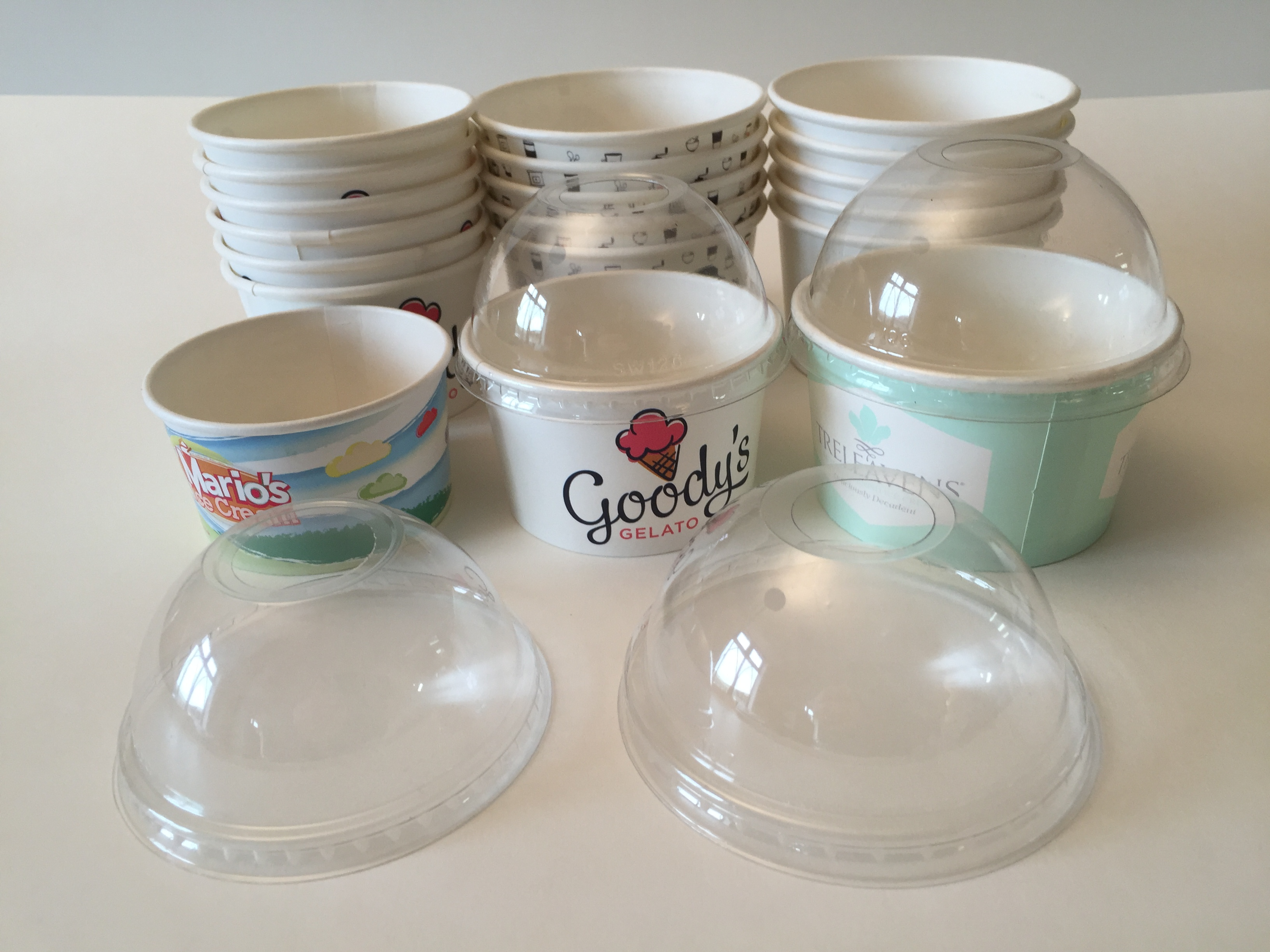 Ice Cream Cups With Dome Lids Scyphus Printed Paper Cups
